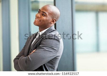 happy young african american businessman - stock photo