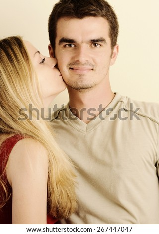 Happy young couple - stock photo