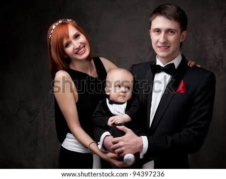 Happy young family. - stock photo