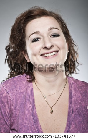 Happy Young Woman Portrait - stock photo