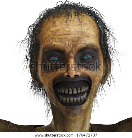 happy zombie portrait - stock photo