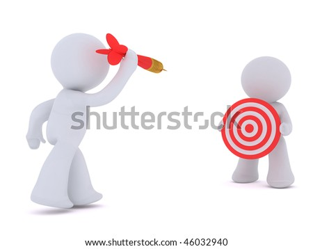 Harassing the Target - stock photo
