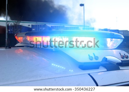 HARBOR GATEWAY, CALIFORNIA- DECEMBER 12, 2015: Fire erupts at recycling yard in Harbor Gateway. Flames and Acrid Black Smoke fill the air during a fire in Harbor Gateway, California Dec. 12, 2015   - stock photo