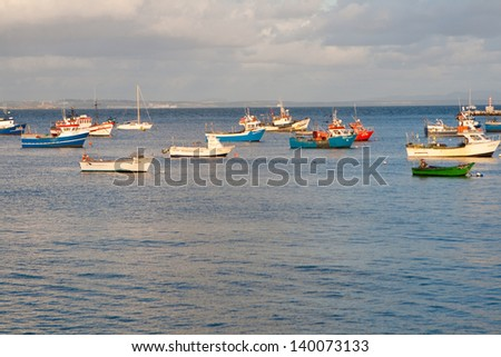 Harbor in Cascais, Portugal - stock photo