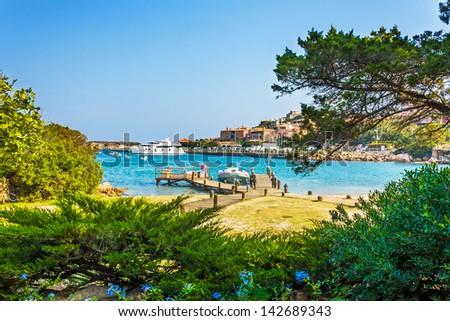 Harbor in Porto Cervo, Sardinia, Italy - stock photo