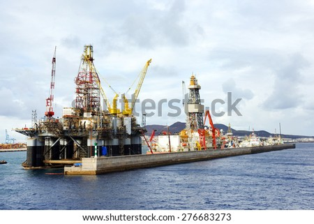 Harbor of Las Palmas, Canary Islands, Spain - stock photo