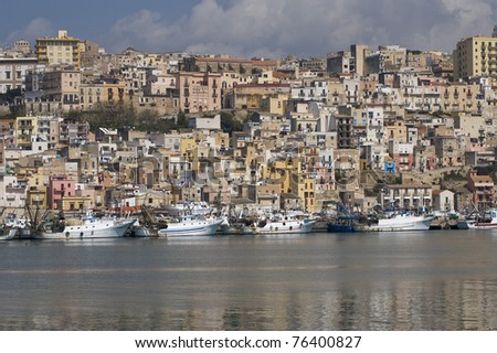 harbor of sciacca, Agrigento, Sicily, Italy - stock photo