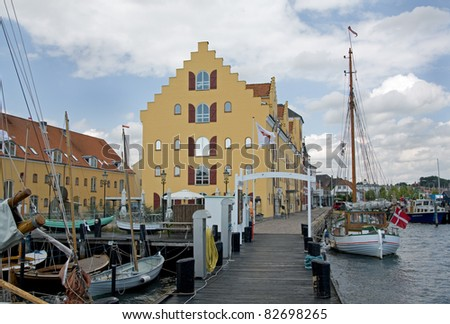 Harbor of Svendborg, Denmark - stock photo