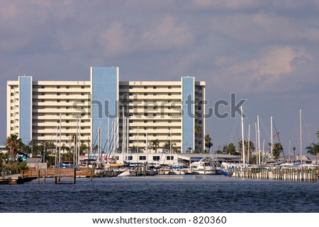 Harbor on Boca Ciega Bay. Madeira Beach Florida - stock photo