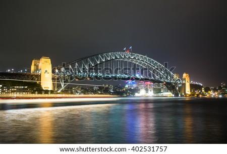 Harbour Bridge,Sydney Australia - stock photo
