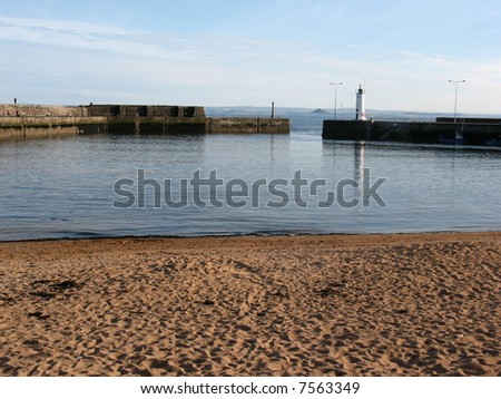harbour in anstruther scotland - stock photo