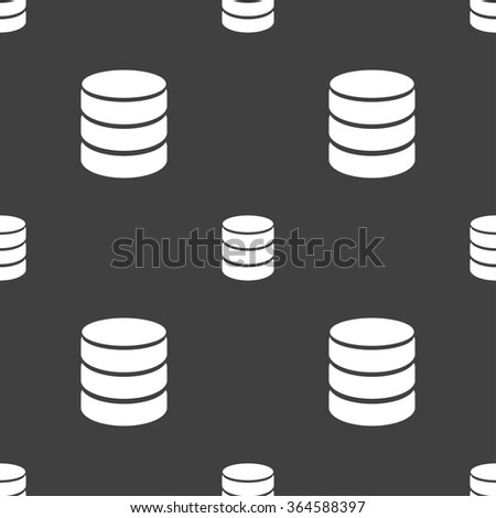 Hard disk and database sign icon. flash drive stick symbol. Seamless pattern on a gray background. illustration - stock photo