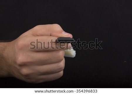 hard disk cable - stock photo