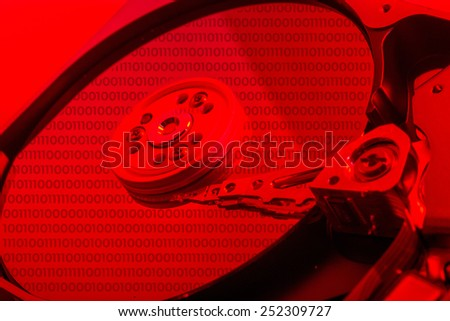 Hard disk drive plate - stock photo