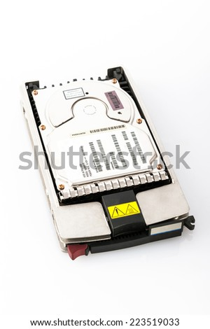 Hard disk from server - stock photo