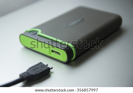 Hard disk on the table - stock photo
