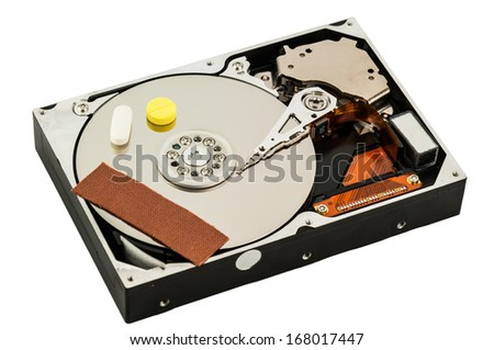 Hard disk recovery concept - stock photo