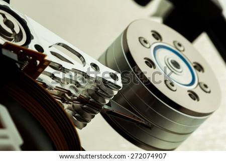 Hard Drive. Hard drive details - stock photo
