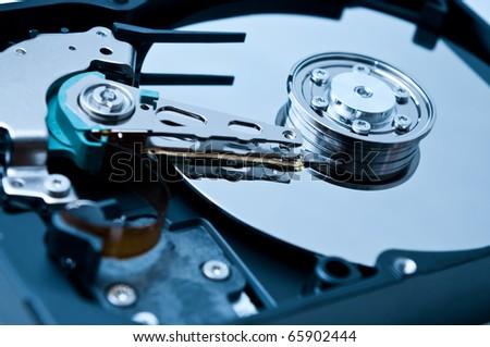 Hard drive playback head - stock photo