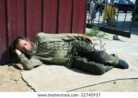 Hard life. - stock photo