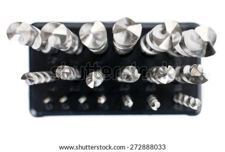 Hard metal tool bits collection - stock photo