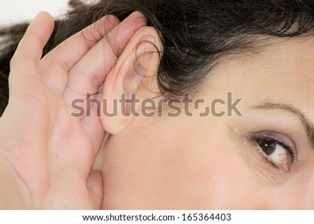 hard-of-hearing - stock photo
