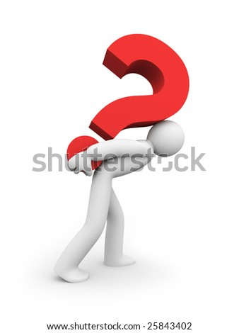 Hard question - stock photo