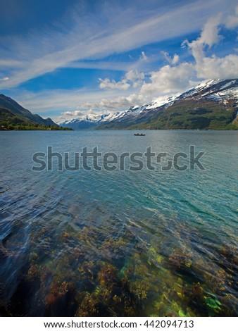 Hardangerfjord in Norway - stock photo