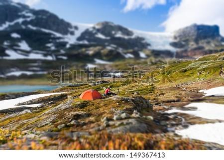 Hardangervidda Camping - stock photo