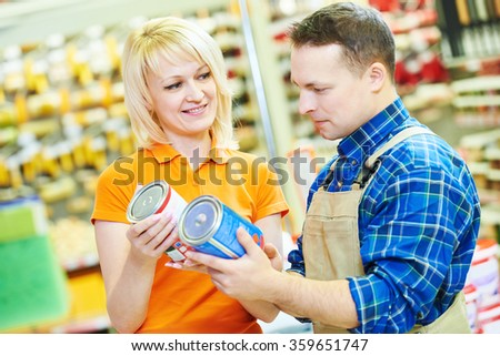 Hardware store worker or buyer - stock photo