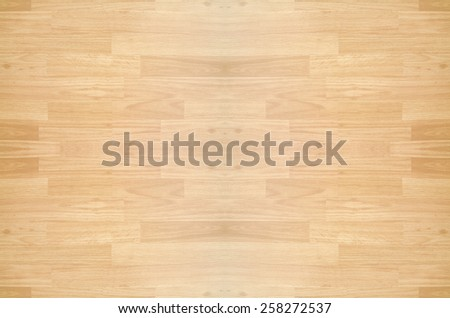 Hardwood maple basketball court floor viewed from above - stock photo