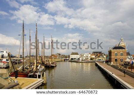 Harlingen, Friesland, Netherlands - stock photo