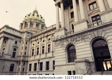 Harrisburg, Pennsylvania  -  State Capitol Building - stock photo