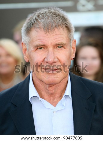 Harrison Ford arriving for the UK premiere of 'Cowboys & Aliens' at the O2, London. 11/08/2011  Picture by: Alexandra Glen / Featureflash - stock photo