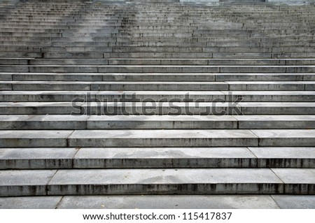 Harvard library steps - stock photo