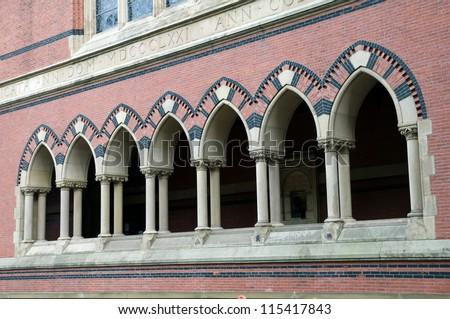 Harvard Memorial Church windows - stock photo