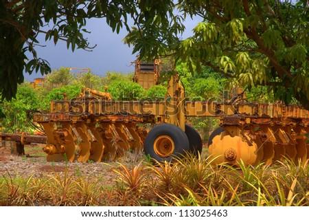 Harvesting equipment - stock photo