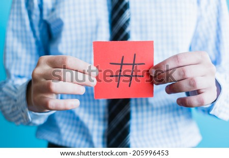 Hashtag internet notification concept - stock photo