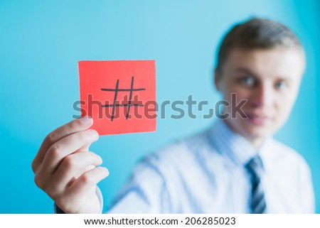 Hashtag internet notification concept - stock photo