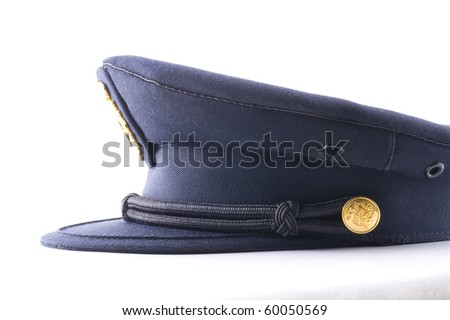 hat of the Spanish police - stock photo