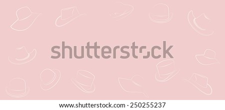 hat on a pink background - stock photo