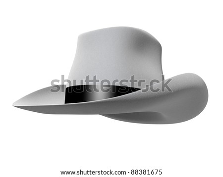 hat on a white background - stock photo
