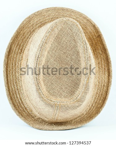 Hat  viewed from the top. - stock photo
