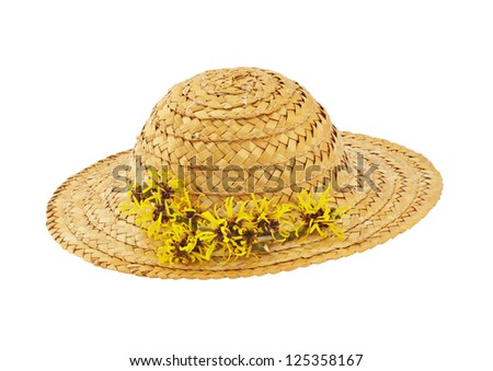 Hat with Witch Hazel - stock photo