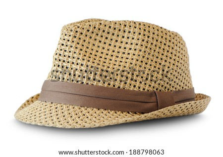 hat wooden isolate is on white background  - stock photo