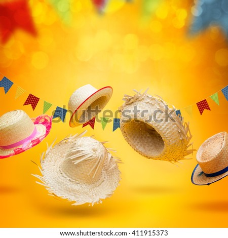 Hats for June Festival - stock photo