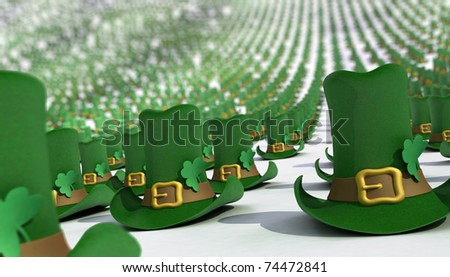 Hats for the St. Patrick's Day. - stock photo