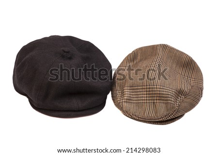 Hats isolated on white - stock photo