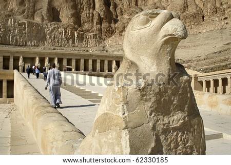 Hatsepsut temple, Egypt, UNESCO - stock photo