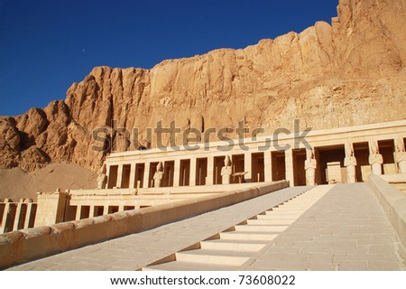 Hatshepsut's temple - stock photo